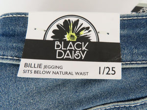 Black Daisy Billie Jeggings Jeans Juniors Size 1