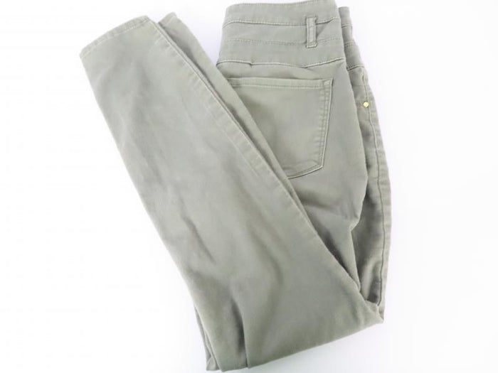 Refuge Stretch 3 Button Green Cotton Pants Juniors Size 6