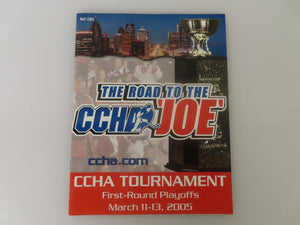 2005 CCHA First Round Playoffs Program (Hockey)