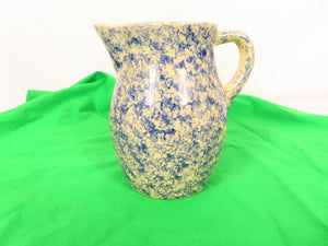Blue and Beige Water Pitcher