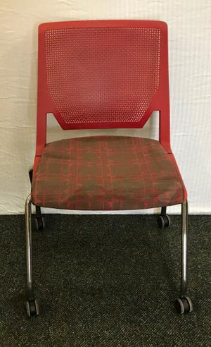 Haworth Red Office Chair on Wheels
