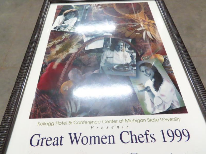 Great Women Chefs of 1999 Signed Framed Poster
