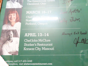 Visiting Chefs Spring 2011 Signed Framed Poster
