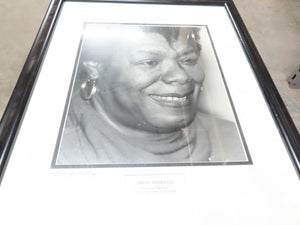 Framed Black and White Photo of Maya Angelou