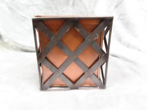 Copper Bin w/ Black Lattice Metal Case
