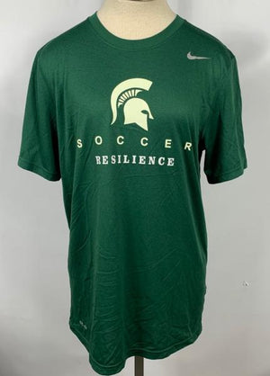 Nike Green Michigan State Soccer Short Sleeve T-Shirt Unisex Size M