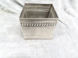 Silver Aluminum Decorative Bin