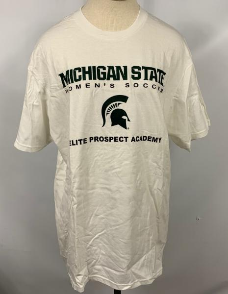 Nike White Michigan State Soccer T-Shirt Unisex