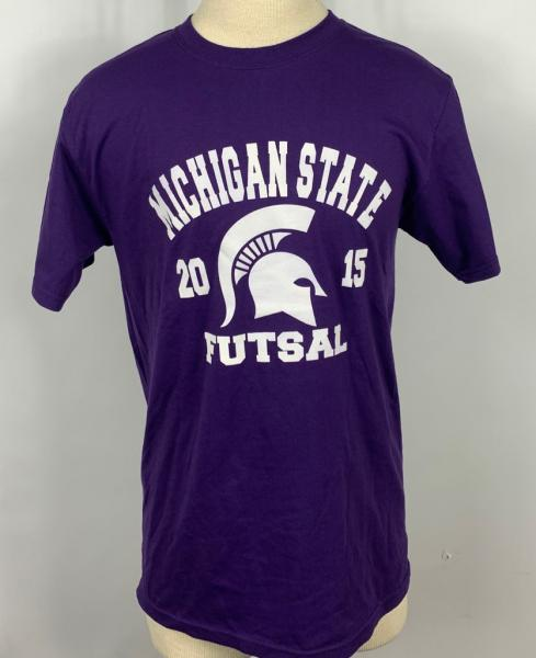 Michigan State Purple Soccer Short Sleeve T-Shirt Unisex Size M