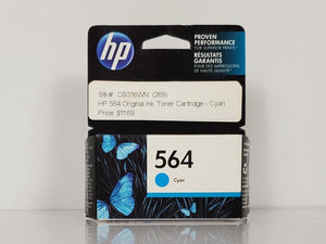 HP 564 CB318WN Cyan Inkjet Print Cartridge