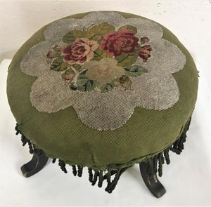 Antique Upholstered Small Ottoman