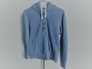 Clockhouse Blue Quarter Button Pullover Young Men's Size M