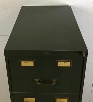 Aurora Green 5-Drawer Industrial File Cabinet