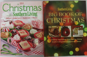 Southern Living Big Book of Christmas (2010) and 2011 Christmas with Southern Living [2 books]