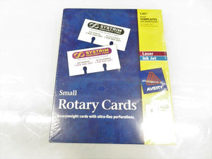 Avery Small Rotary Cards Package of 400