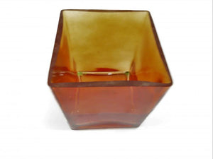 Tinted Red Glass Vase