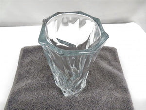 Heavyweight Clear Glass Vase