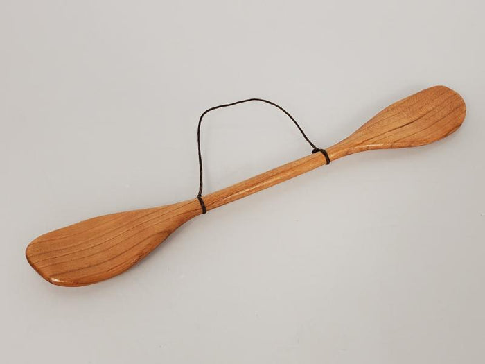 MSU Shadows Double Ended Cedar Canoe Oar Ornament