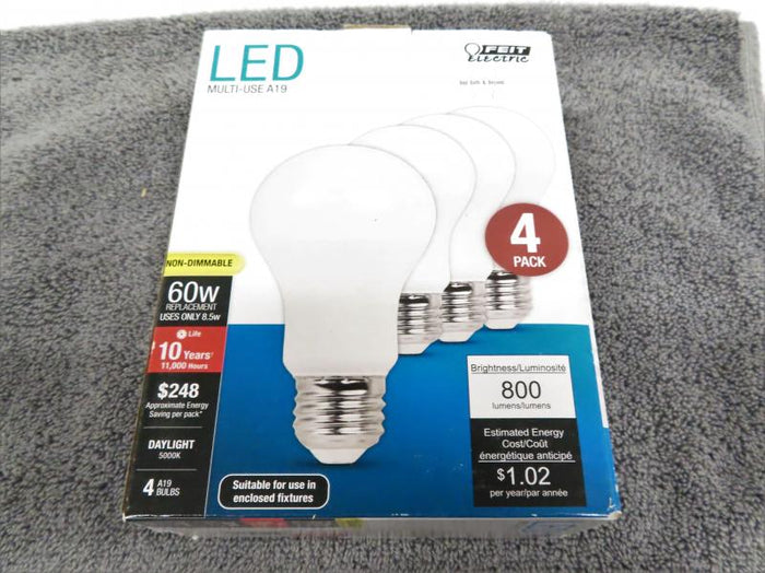 Box of 4 Feit LED 60W Light Bulbs