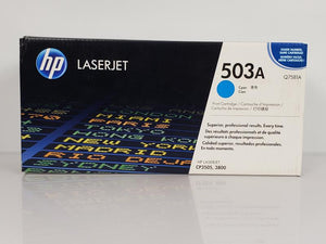 HP 503A Q7581A Cyan Toner Cartridge NEW