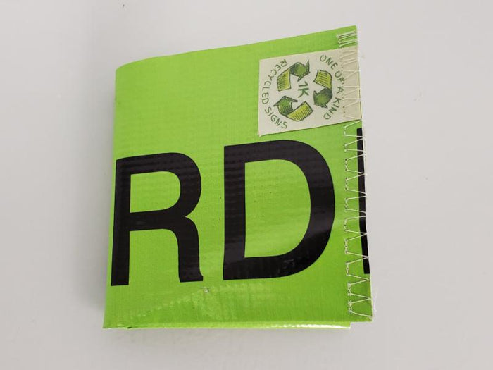 Green Upcycled Wallet from Vinyl Banner