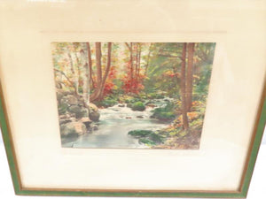 "Vintage Framed Photo Print Art ""The Brook"" by Walter Sheldon"