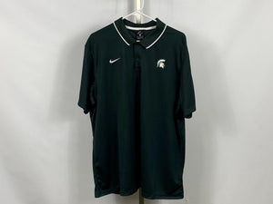 Nike ELITE MSU Green Dri-Fit Short Sleeve Polo Men's XLT