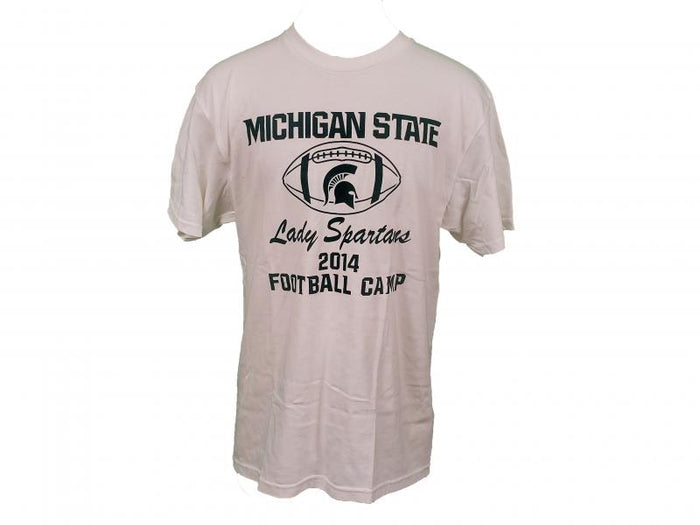 Nike White Michigan State Lady Spartans 2014 Football Clinic T-Shirt Unisex Size M