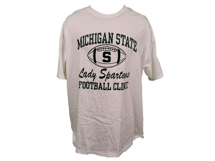 Nike White Michigan State Lady Spartans 2009 Football Clinic T-Shirt Unisex Size XXL