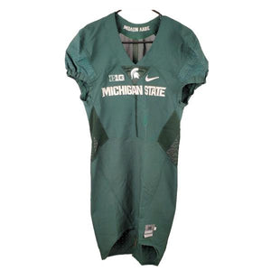 Nike Authentic Blank MSU Football Jersey Green Size 38