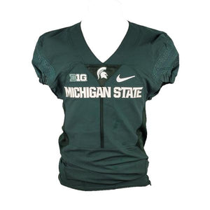 Nike Authentic Blank MSU Football Jersey Green Size 38 L+4