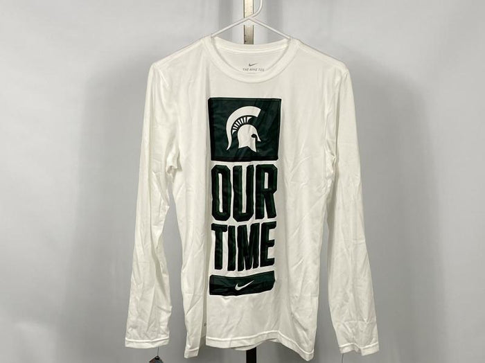 Nike MSU Our Time Bench Legend Long Sleeve T-Shirt Men's Size L