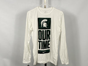 Nike MSU Our Time Bench Legend Long Sleeve T-Shirt Men's Size 2XL