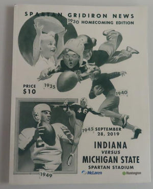 Michigan State Football Gameday Magazine: MSU vs. Indiana (2019)