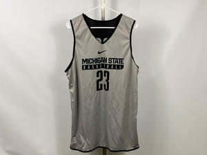Authentic Nike ELITE MSU Men's Basketball Practice Jersey Black #23 Size L +2L