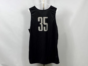 Authentic Nike ELITE MSU Men's Basketball Practice Jersey Black #35 Size L +2L