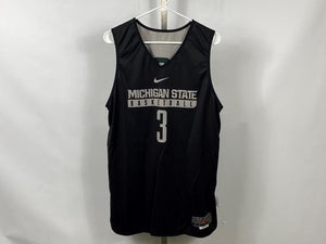Authentic Nike ELITE MSU Men's Basketball Practice Jersey Black #3 Size L +2L
