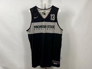 Authentic Nike ELITE MSU Men's Basketball Practice Jersey Black #13 Size L +2L