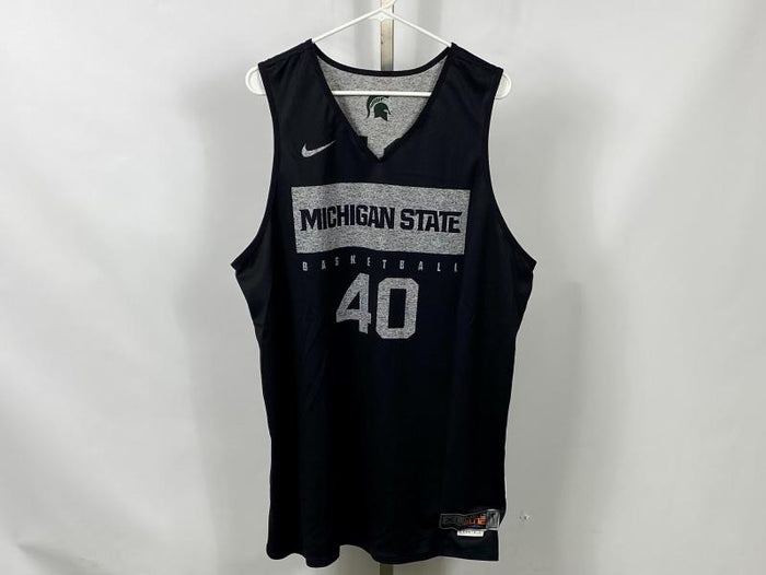 Authentic Nike ELITE MSU Men's Basketball Practice Jersey Black #40 Size XL +2L