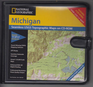Michigan USGS Topographic Maps on CD by National Geographic (2002)