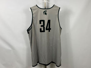 Authentic Nike ELITE MSU Men's Basketball Practice Jersey Green #34 Size XL +2L