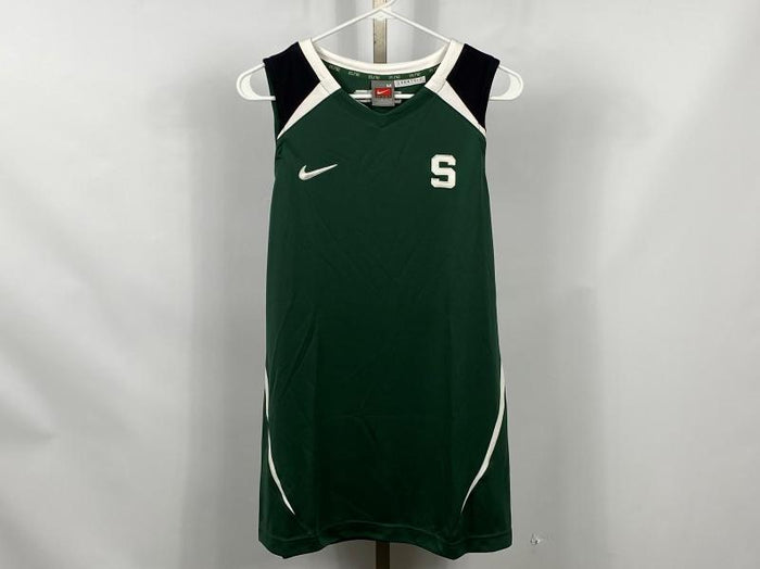 Nike ELITE MSU Green Basketball Warm-Up Jersey Women's Size M +2L