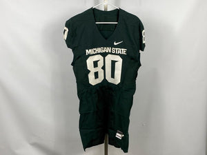 Authentic Nike MSU Football Green Home Jersey #80 Size 46L +4L