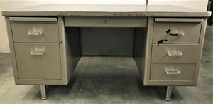 Steelcase Brown Tanker Desk