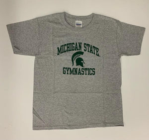 Gildan Gray Michigan State Gymnastics T-Shirt Size Youth S