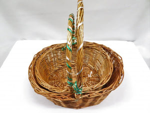 Set of 2 Wicker Baskets with Handles