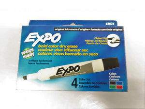 4-Pack Expo Bold Color Dry Erase Markers