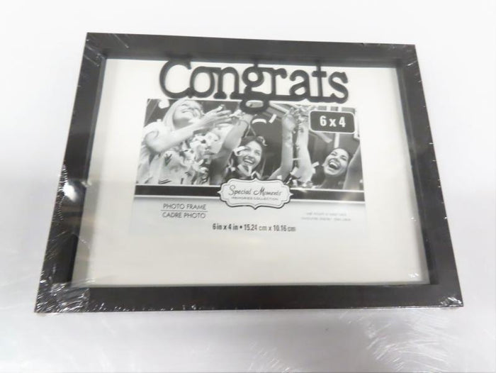 "Special Moments Black 6"" x 4"" Wooden Picture Frame"