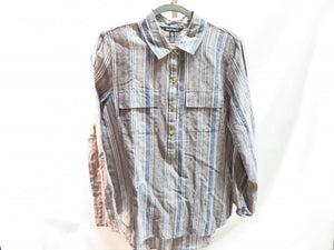 Ellen Tracy Gray and Blue Long Sleeve Shirt Men's Size M