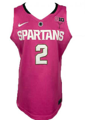 2012-2013 Nike Authentic MSU Women's Basketball Jersey Pink #2 Size 46